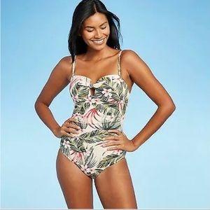 Kona Sol Bandeau High Coverage One Piece Swimwear